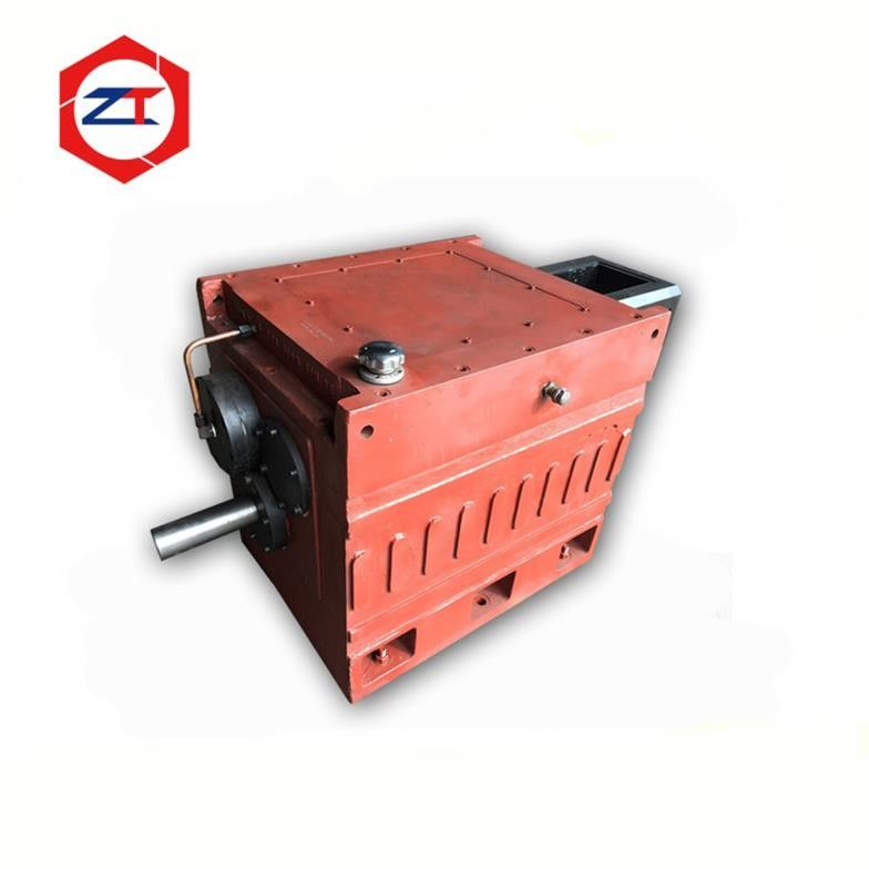 Red Printing Gearbox For Extruder , Twin Screw Extrusion Machine 55 - 75KW Rated